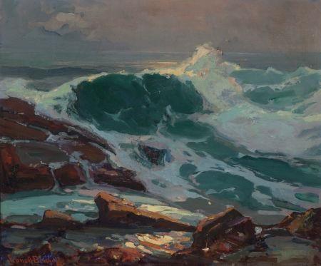 Franz Bischoff - Austrian-American (1864 - 1929)The Wave, Oil on canvas