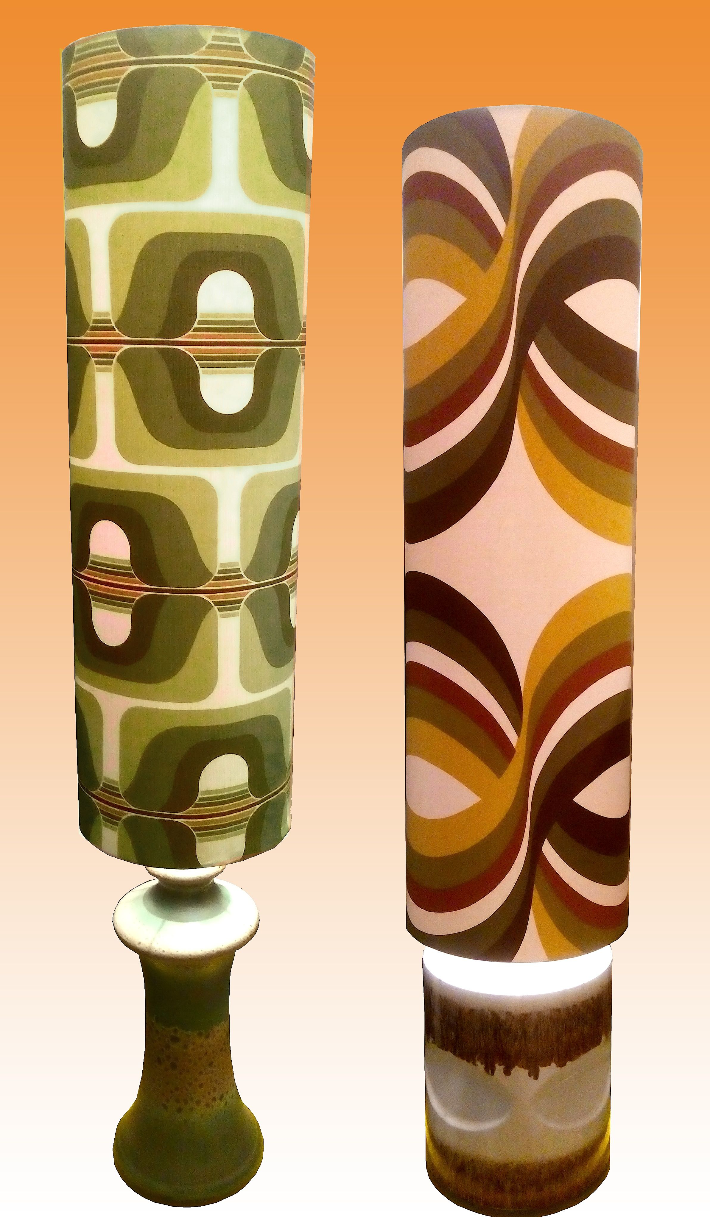 1960s-70s West German Floor Lamps with Gigantic Shades #Groovy ...
