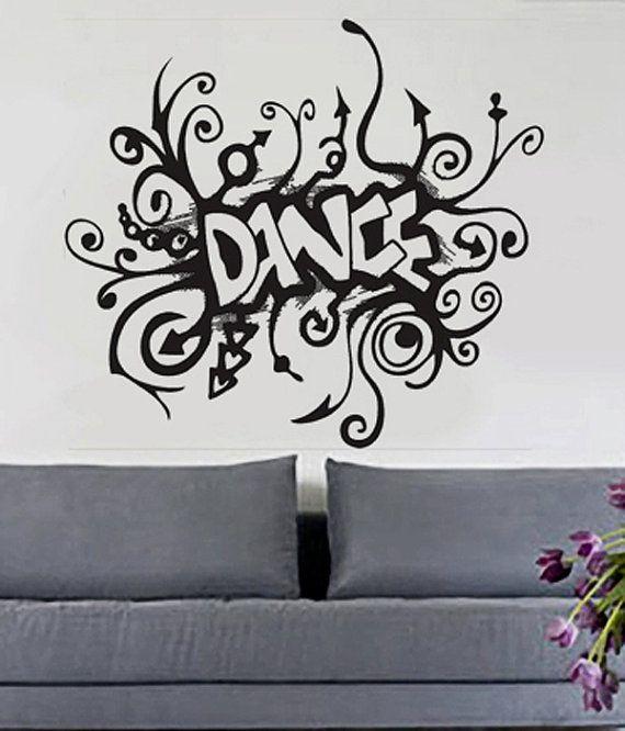 Music Dance Disco Retro Wall Tattoo Wall Sticker Sticker Sticker Deco No 6