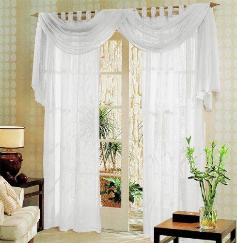 voile komplett gardinen set 3tlg wei 60999 wohnung. Black Bedroom Furniture Sets. Home Design Ideas
