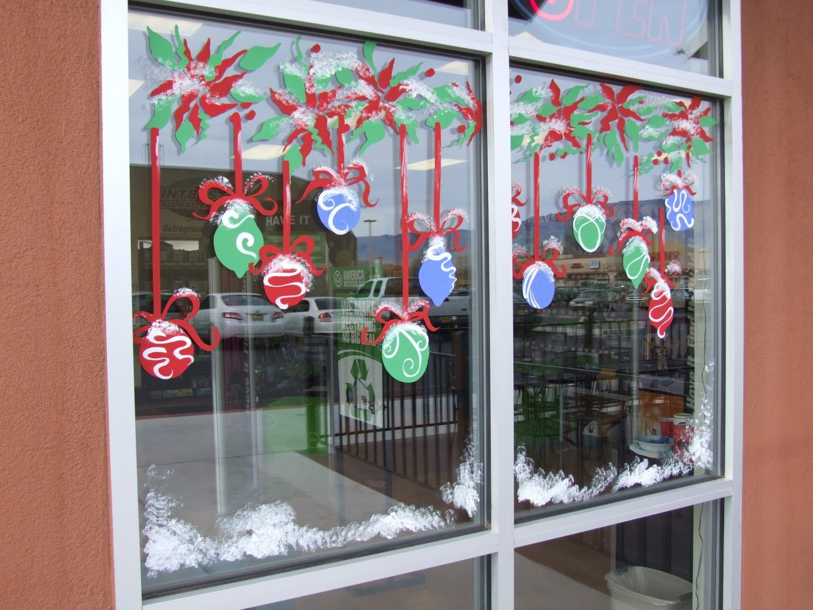 image result for holiday window painting ideas holidays