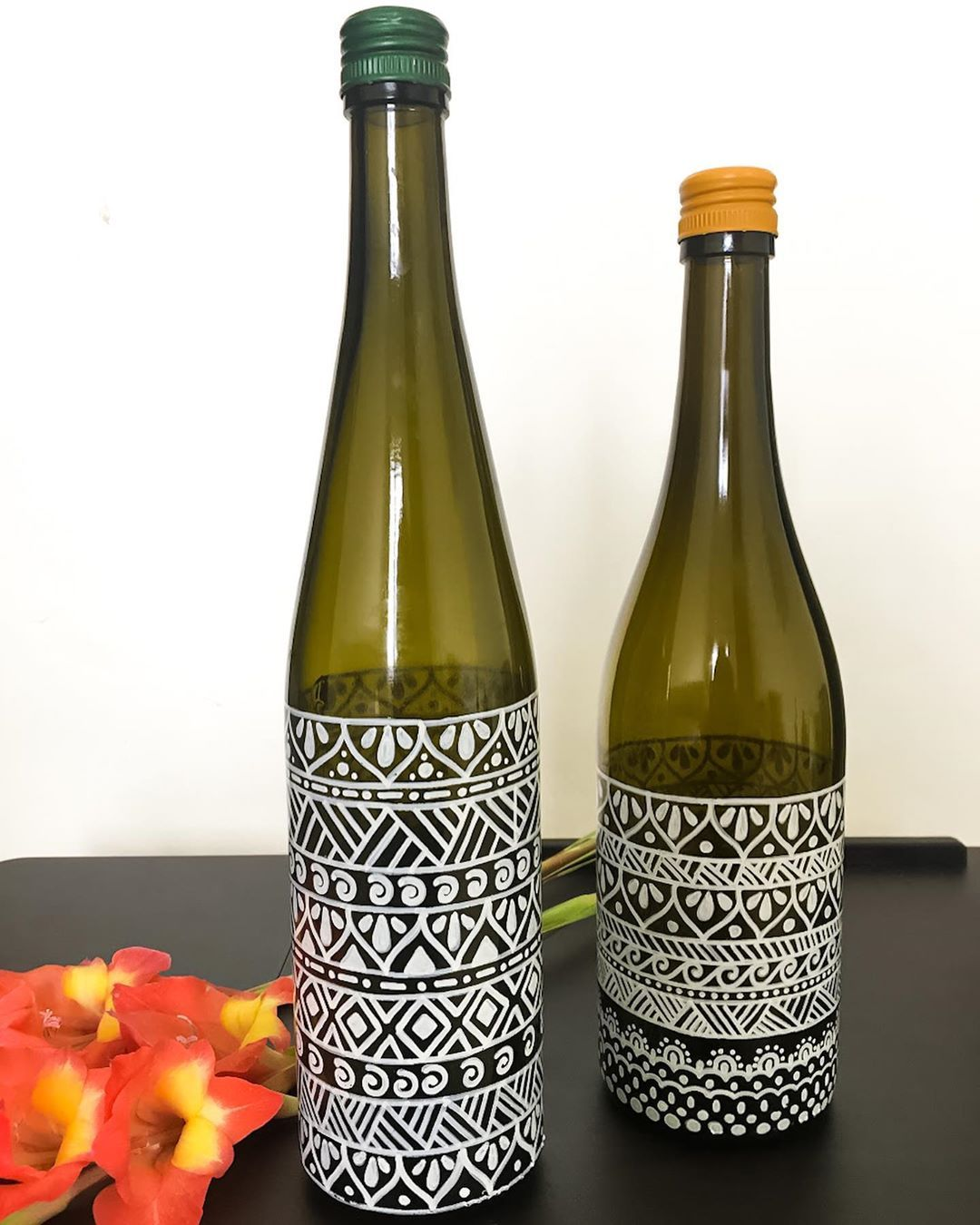 40+ Designs to paint on glass bottles ideas in 2021