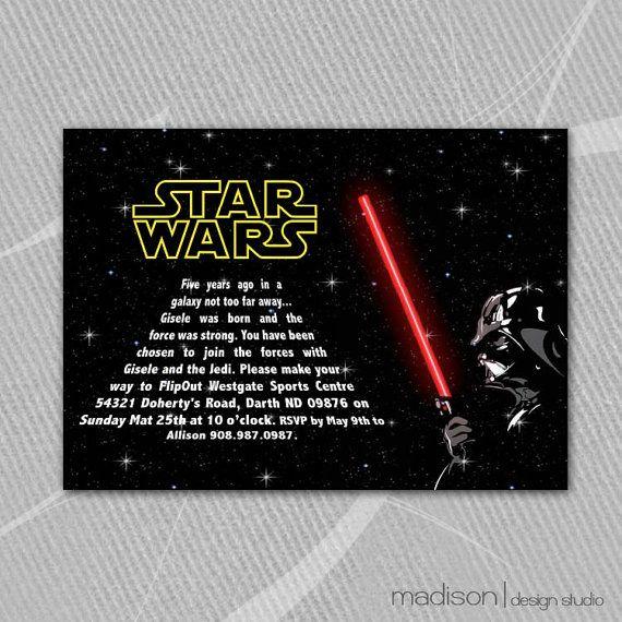 STAR WARS Darth Vader Invitation Printable by MadisonDesignShop, $18.00