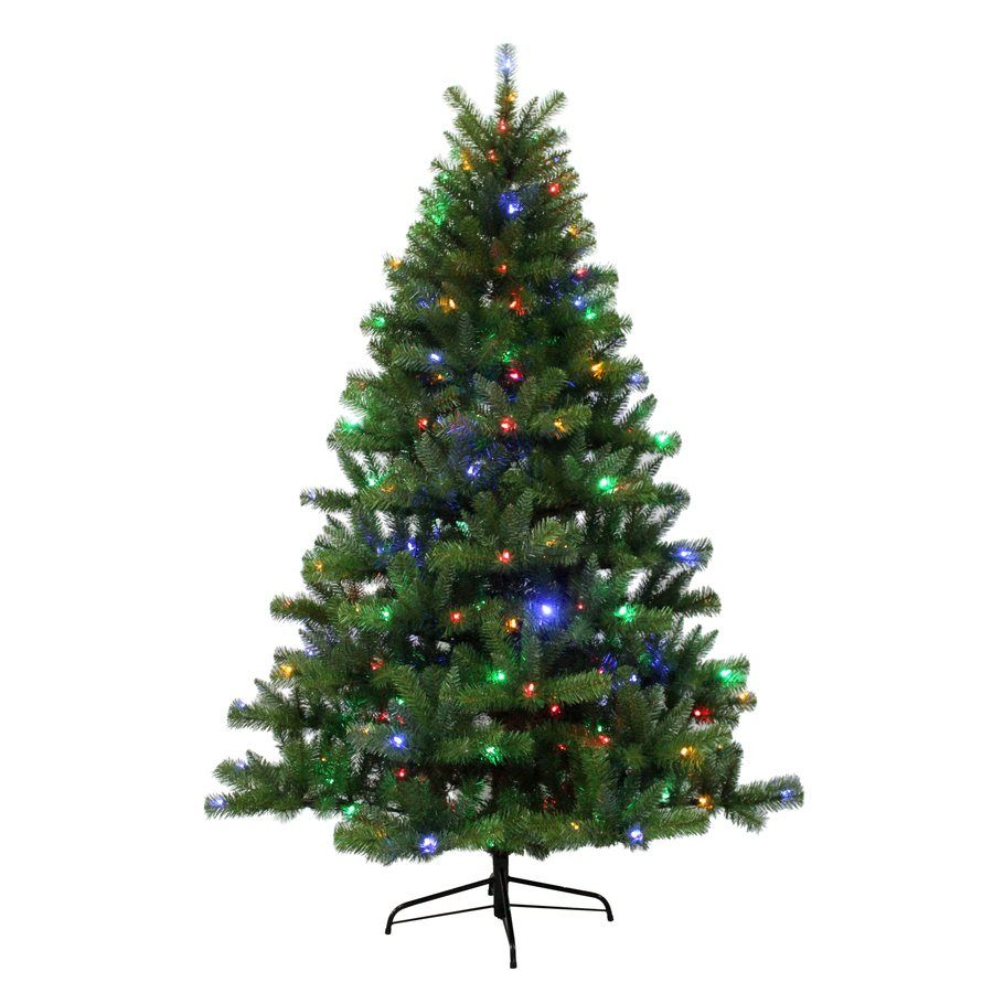 Holiday Living 6.5-ft Pre-Lit Seneca Artificial Christmas Tree with ...