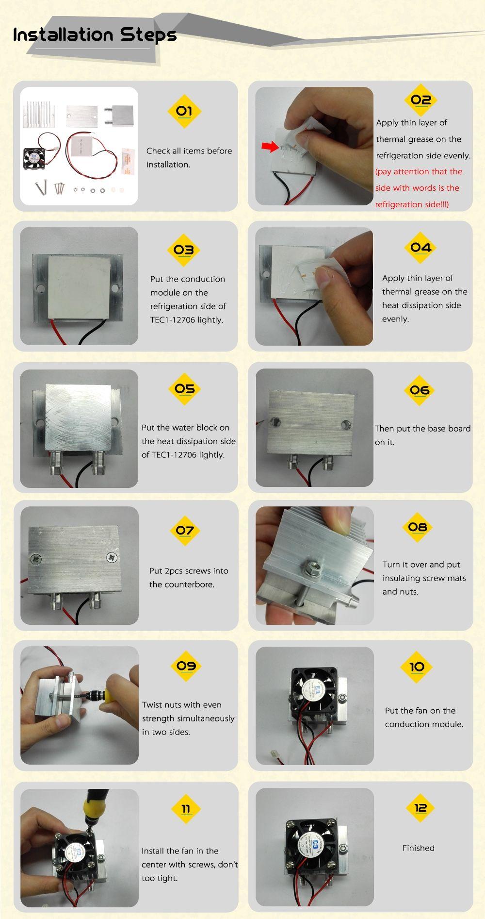 Diy Kit Thermoelectric Peltier Cooler Refrigeration Cooling System