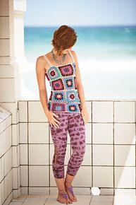 Shown here in multi with 10-14S spandex leggings in purple tie dye.