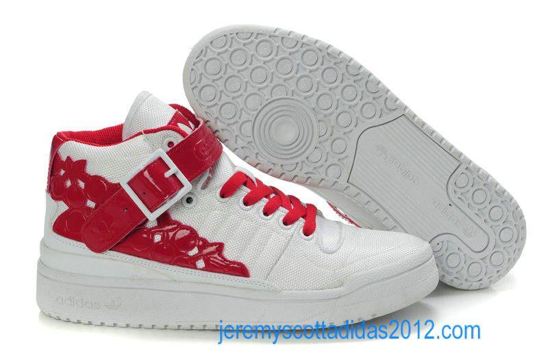 Adidas Forum Mid Kawaii White Sport Red Womens Shoes