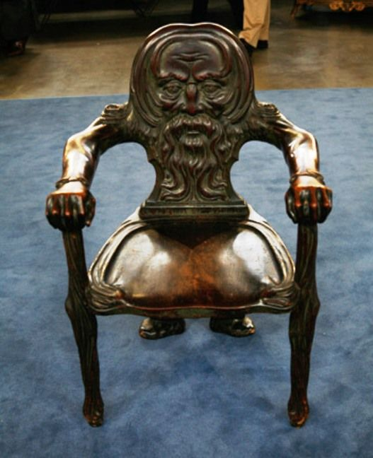 Mahogany Green Man Chair, ca. 1890 on Antiques Roadshow. - Little Ol' Man Chair.] For The Home Pinterest Wood Art, Room