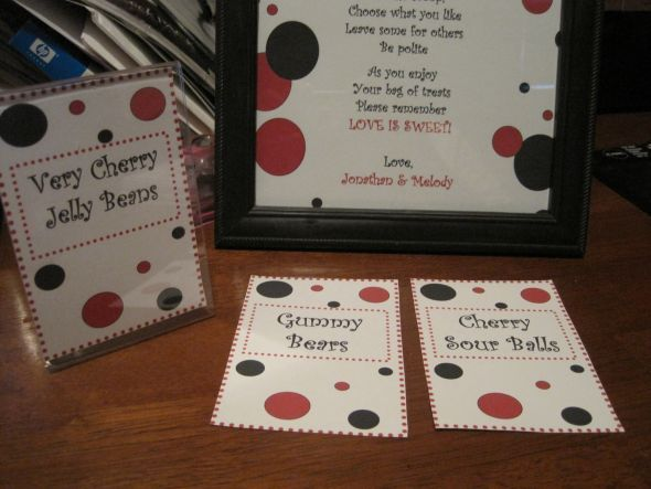 Candy Buffet Signs | Weddingbee Photo Gallery | Candy ...