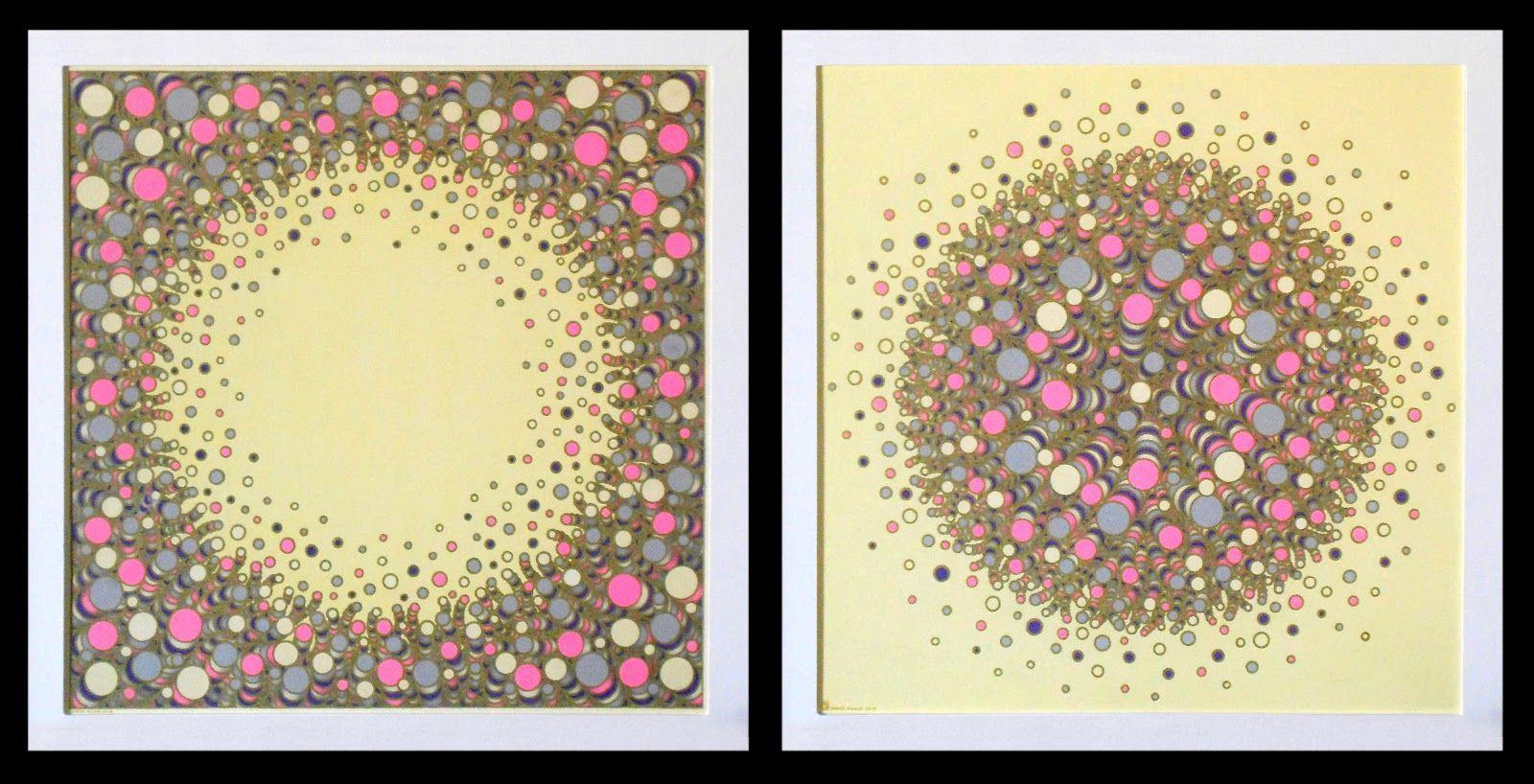 12-02 Técnica mixta, 55 cms x 55 cms cada uno.