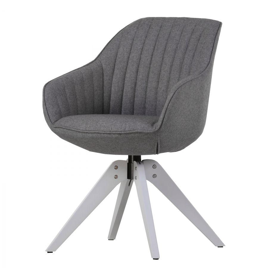 Armlehnenstuhl Ermelo l   Webstoff / Eiche massiv   Stühle ...