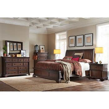 Brownstone 6 Piece Cal King Bedroom Set 3 799 Costco Bedroom