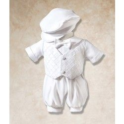 Your Baby Boy Will Look So Dapper In This Two Piece Romper And Cap