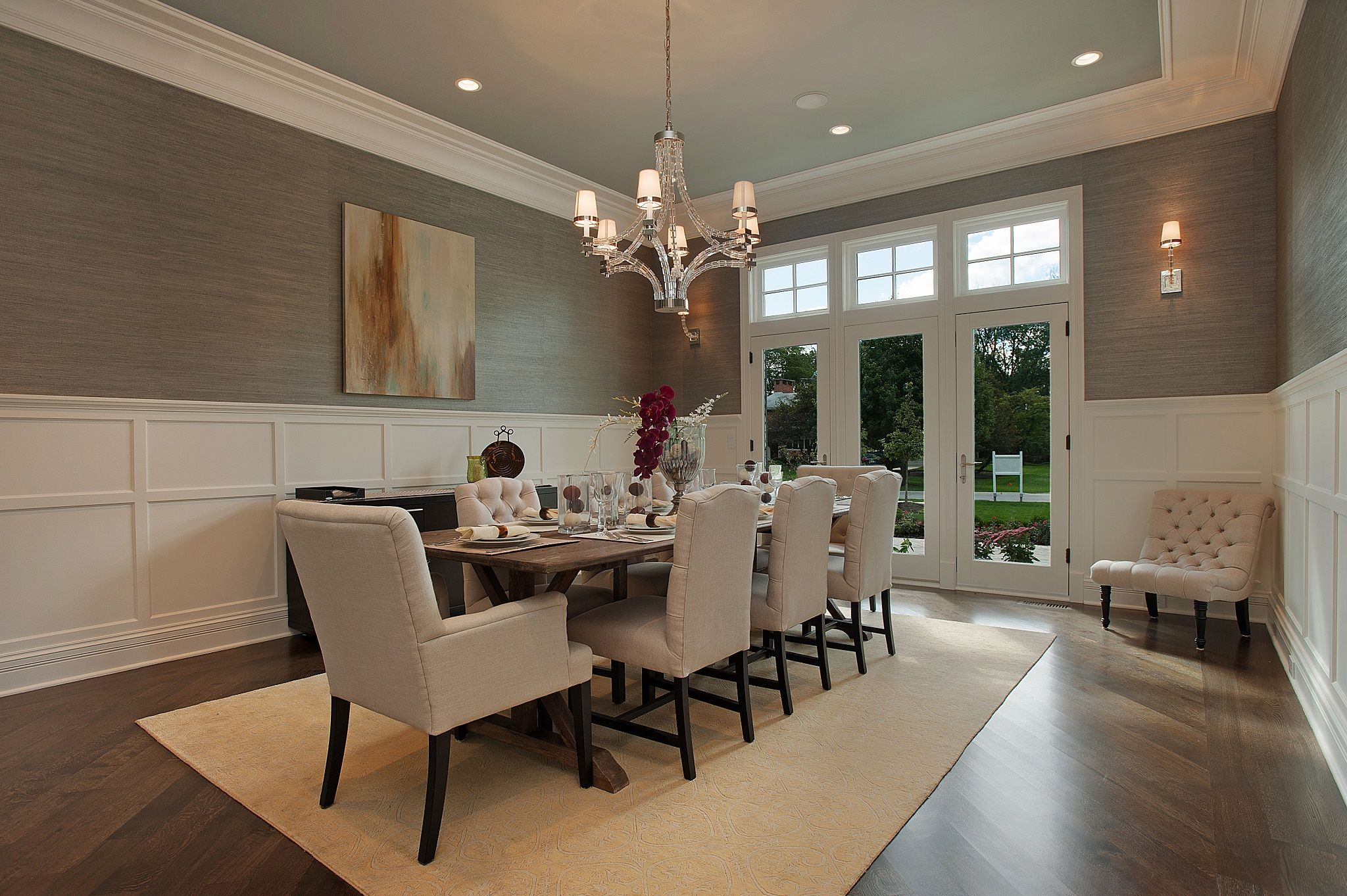 Best decoration for american formal dining room furniture for Large dining room ideas