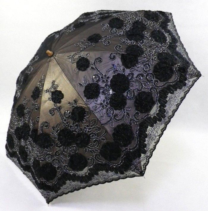 New Elegant Embroidery Lace Anti Uv Sun Protection Folding Parasol