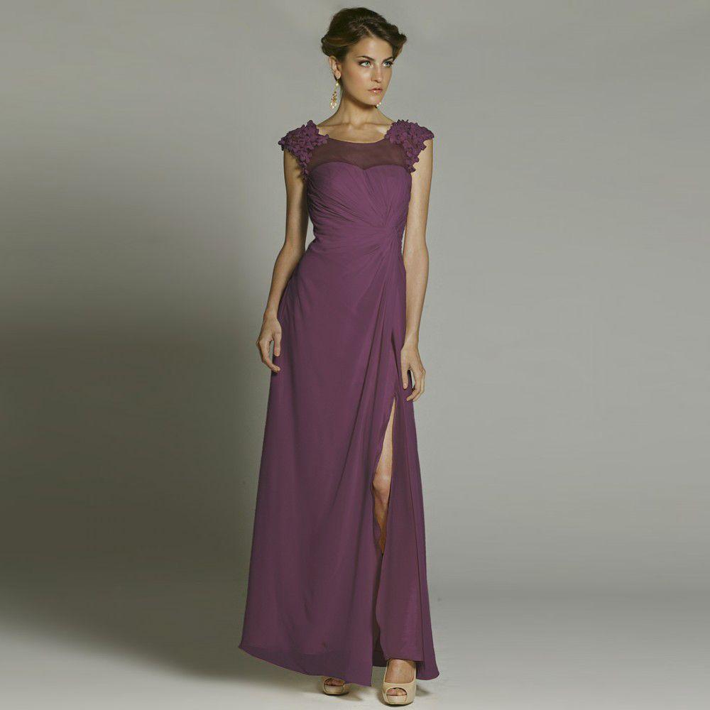 Fashionably yours trinity sheer lilac dress