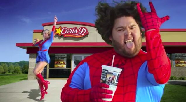Carl's Jr. Giveaway: Dress Like Spider-Man on July 4th, Get a Free Bacon Cheeseburger - Foodista.com