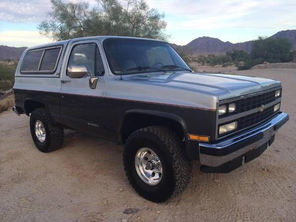 1990 Chevrolet K5 Blazer Chevy Trucks Classic Chevy Trucks