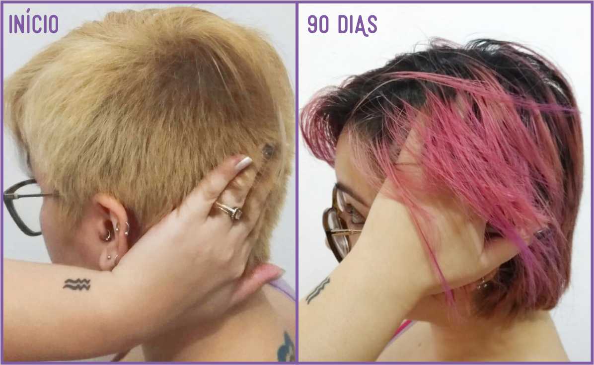 Desafio Luminus Hair - 90 dias Antes e Depois