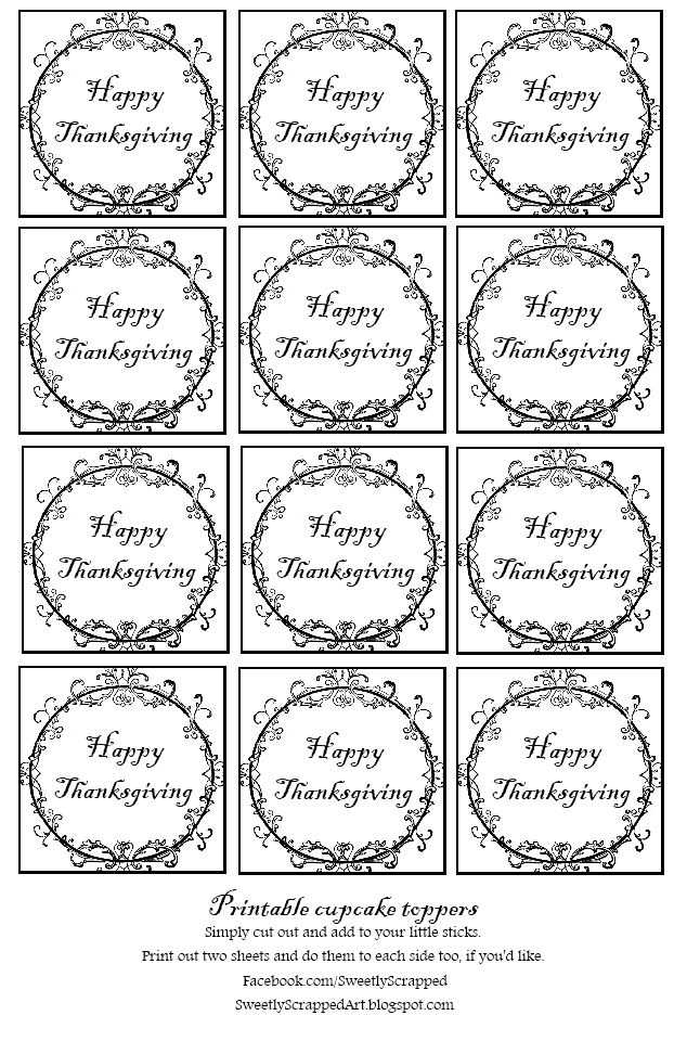 Sweetly Scrapped Thanksgiving Printables Free Printables Printable Tags