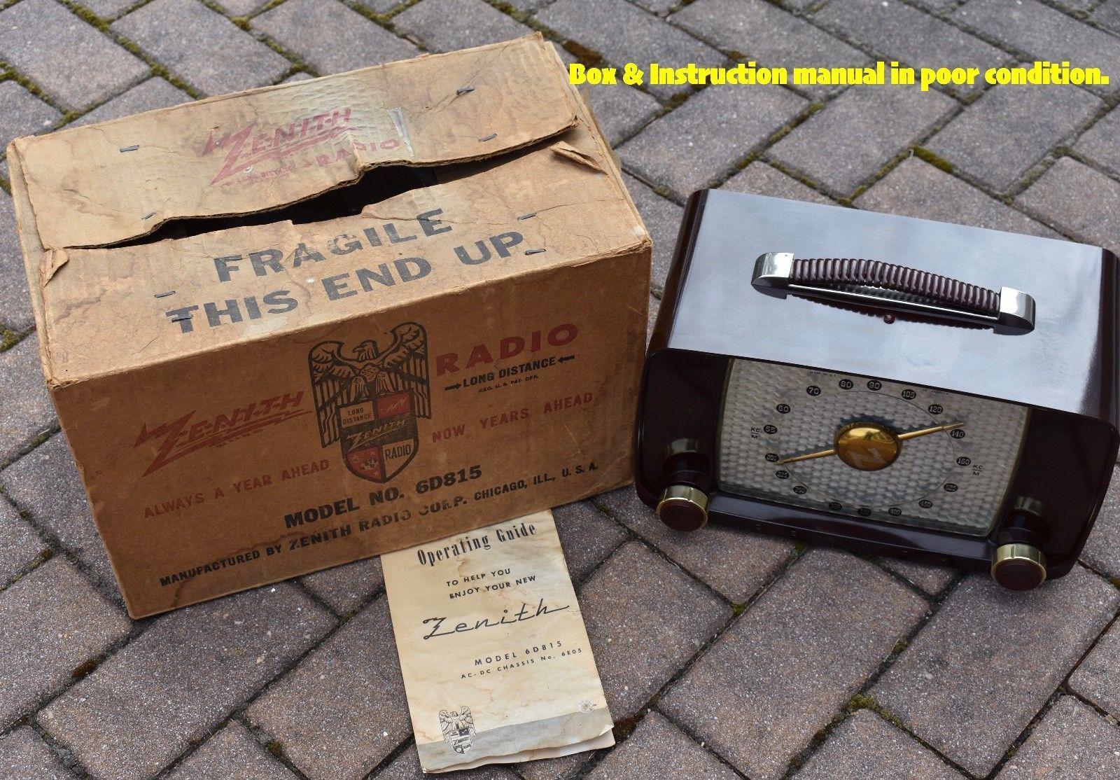Zenith 6d815 Mid Century 6 Tube Radio Orig Box Manual Plays Well. Zenith 6d815 Mid Century 6 Tube Radio Orig Box Manual Plays Well Ebay. Wiring. Zenith Tube Radio Schematics Model 6s At Scoala.co
