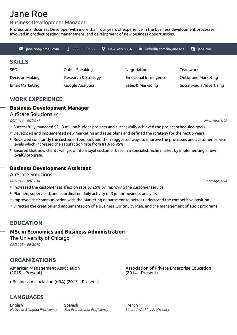Free Resume Templates For 2020 Download Now Good Resume Examples Resume Template Professional Sample Resume Templates