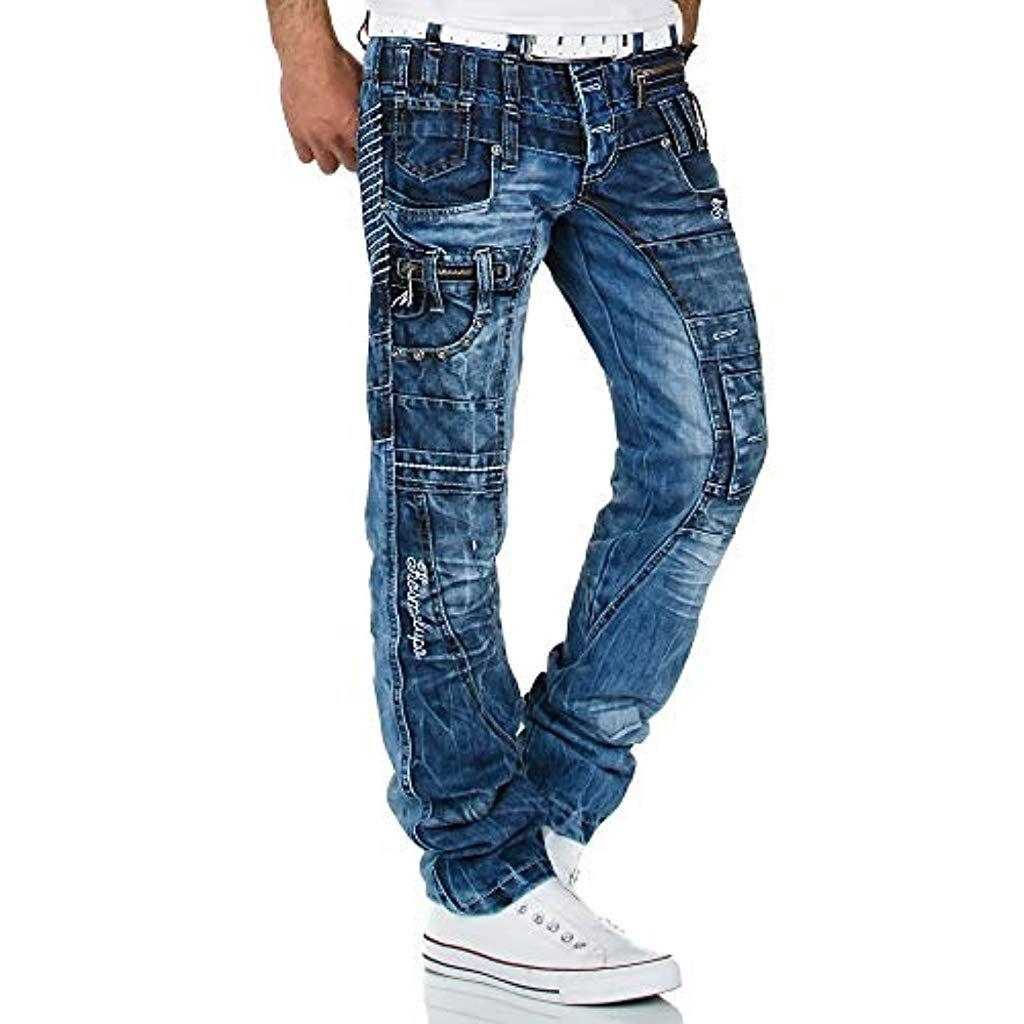 Kosmo Lupo Herren Jeans Denim Hose KM Designer Jeans