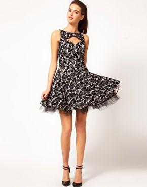 River Island Lace Print Prom Dress