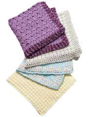 Quick Stitch Baby Blankets -- Looking for a quick-to-stitch baby gift? Get 4 crochet baby blanket patterns made using worsted weight yarn. Designs include Yellow Sedge Stitch, Lilac Scallops, Speckled Double V-Stitch and Double Crochet Delight.