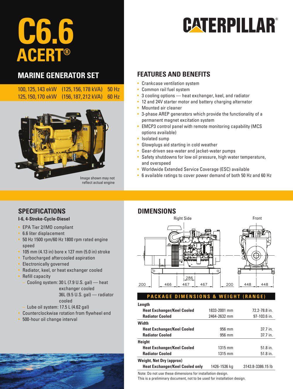 Cat C66 Acert Genset Spec Sheet 52911 1b Jpg 1000 1330 Ux Design Process Marketing Design Design