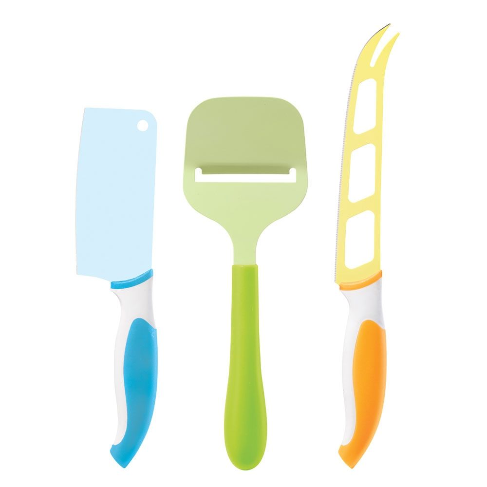 Colorful Cheese Knife Set. I really want these!! (my birthday is on ...