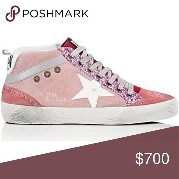 ISO pink golden goose mid star sneakers
