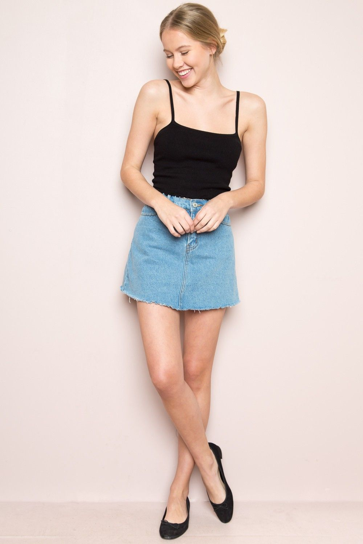d3240e70dc Brandy ♥ Melville | Juliette Denim Skirt - Skirts - Bottoms - Clothing