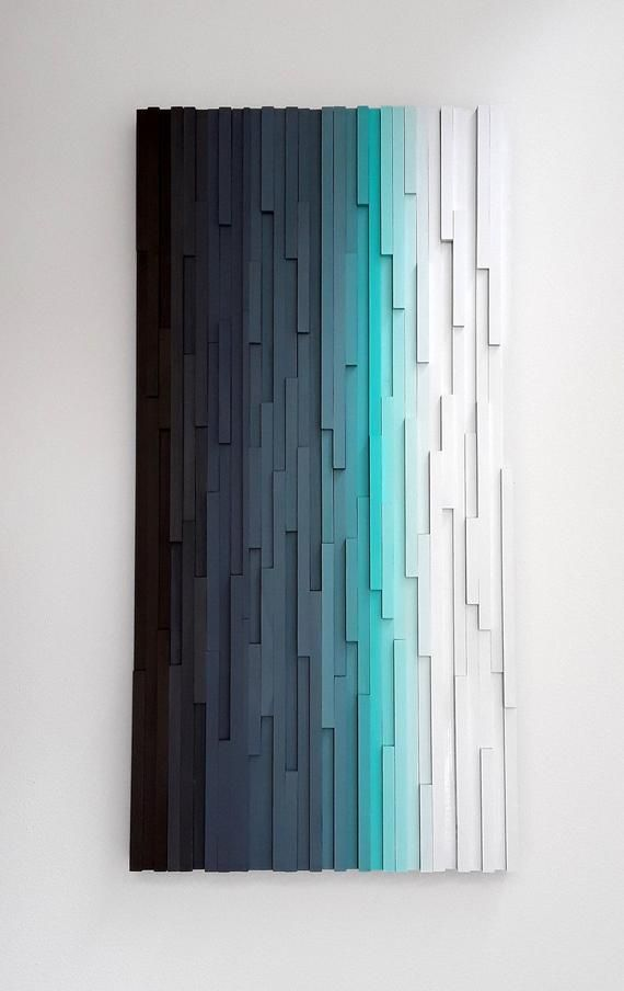 Wall Sculpture Wooden, Wooden Wall Art, Textured W