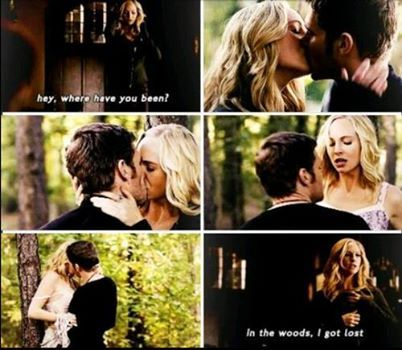 Caroline and Klaus. Finally! I've been waiting so freaking long for this to happen!