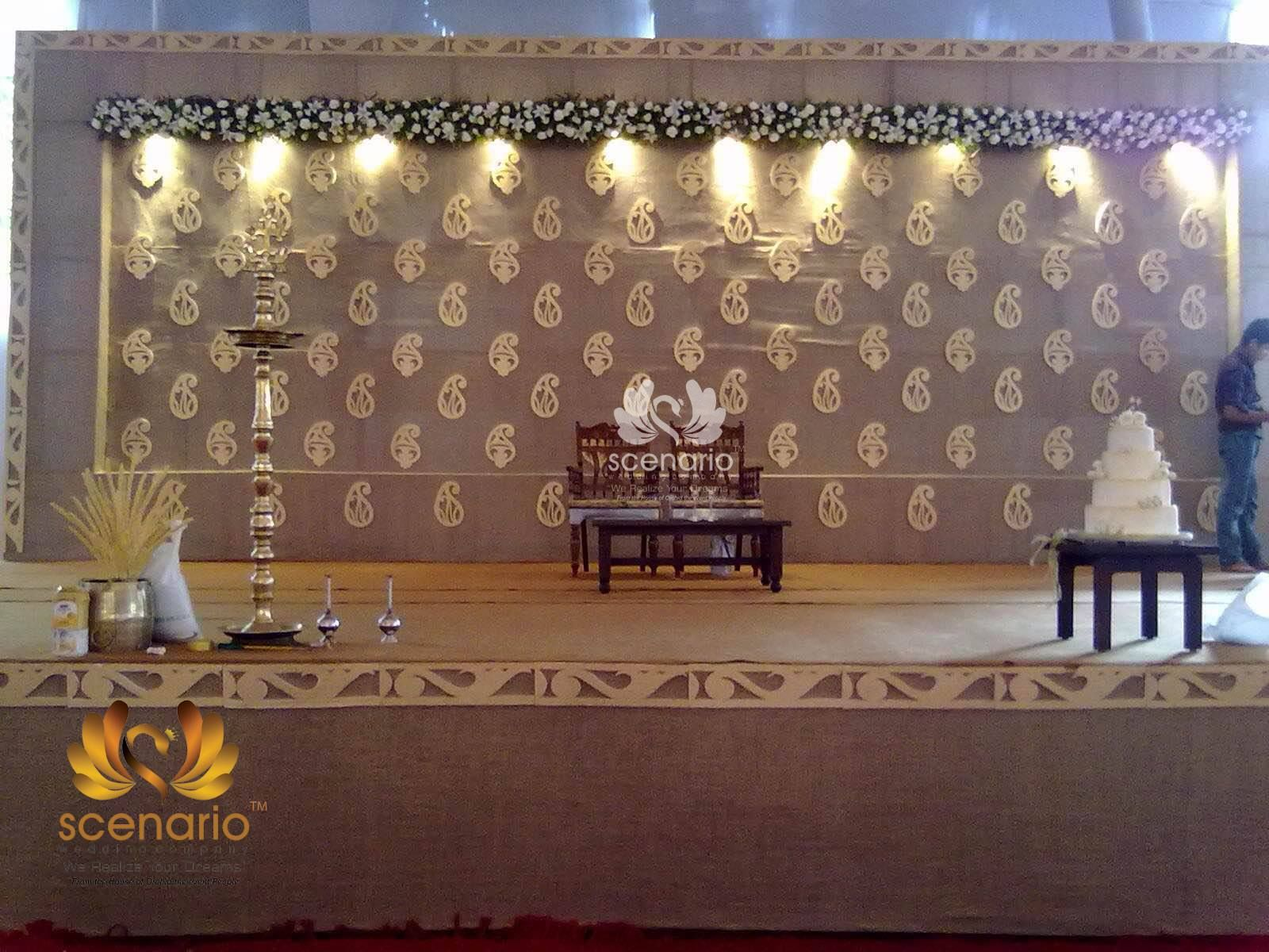 Scenario Wedding Company creates perfect look for your wedding stage. Call: 9946490001 0484-6005652