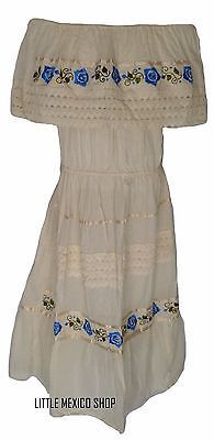 6d82b8d5039c0 ASSORTED CROCHET Embroidered Mexican Dress PEASANT Vintage ONE SIZE Fits M- XL