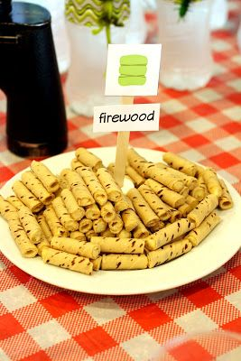Life As We Know It Camping Themed Birthday Partyparty Food Firewood