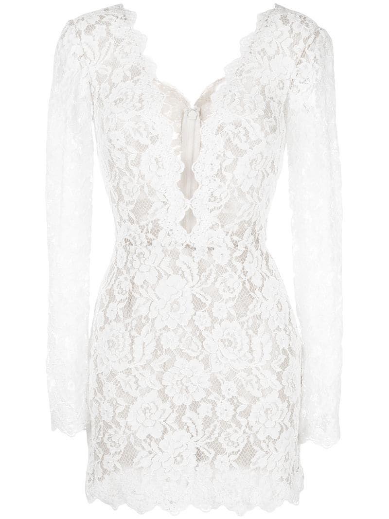 Tadashi Shoji Lace Embroidered Dress Farfetch Embroidered Lace Dress White Embroidered Dress Embroidered Dress [ 1067 x 800 Pixel ]