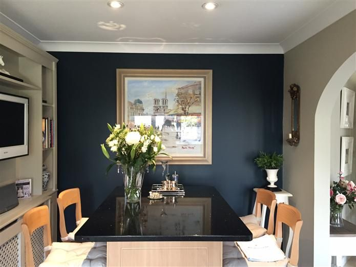an inspirational image from farrow ball interiors pinterest hague blue farrow ball and room. Black Bedroom Furniture Sets. Home Design Ideas
