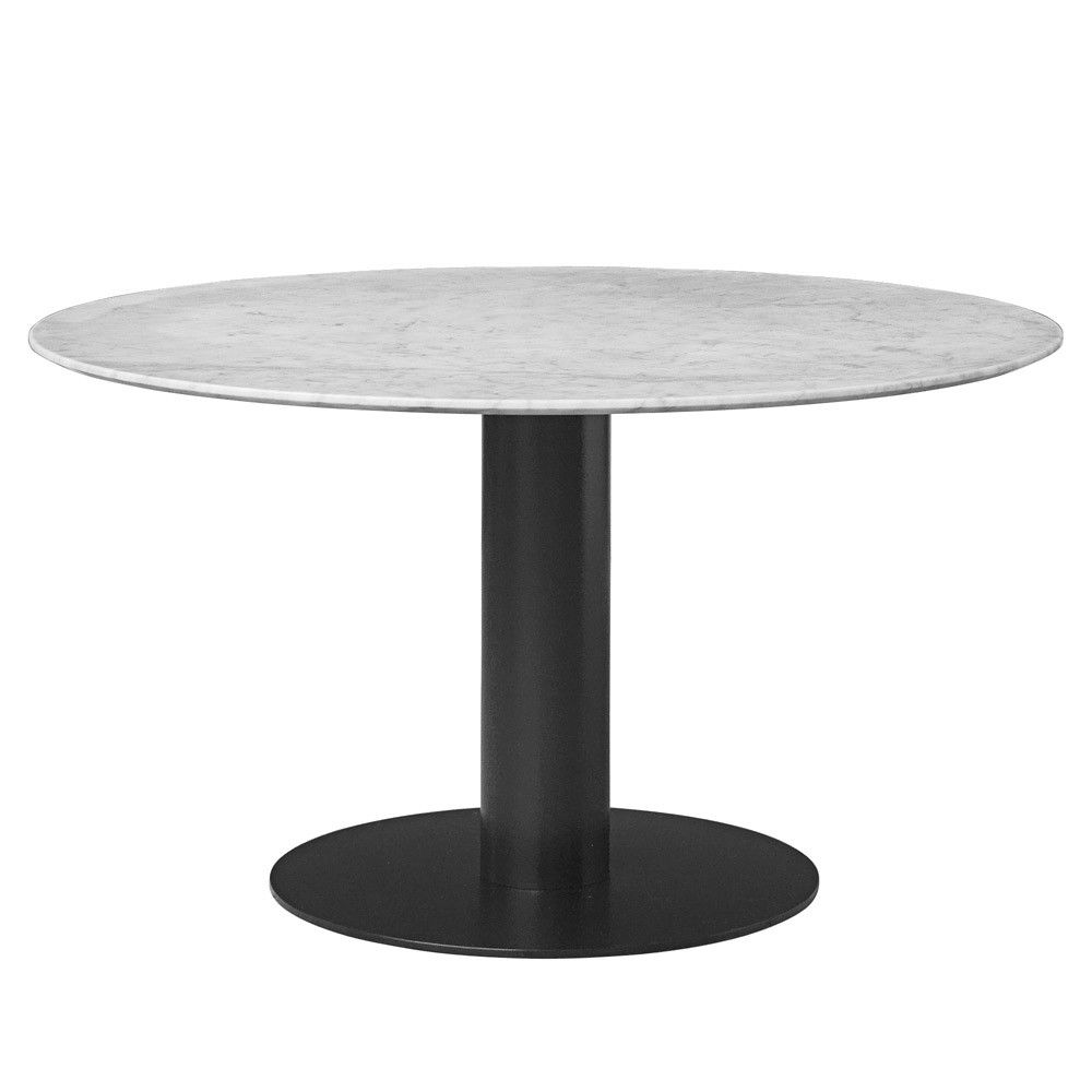 Round marble table - Gubi 2 0 Round Dining Table With Bianca Carrara Marble Table Top