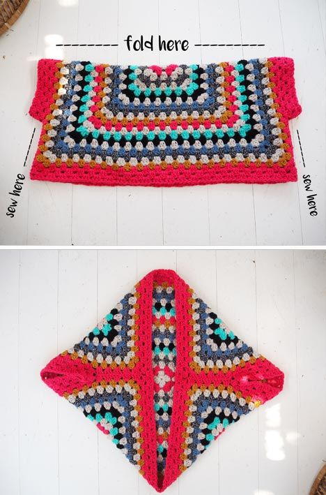 Lululoves - Crochet Granny Square Shrug | TODO CROCHET | Pinterest ...