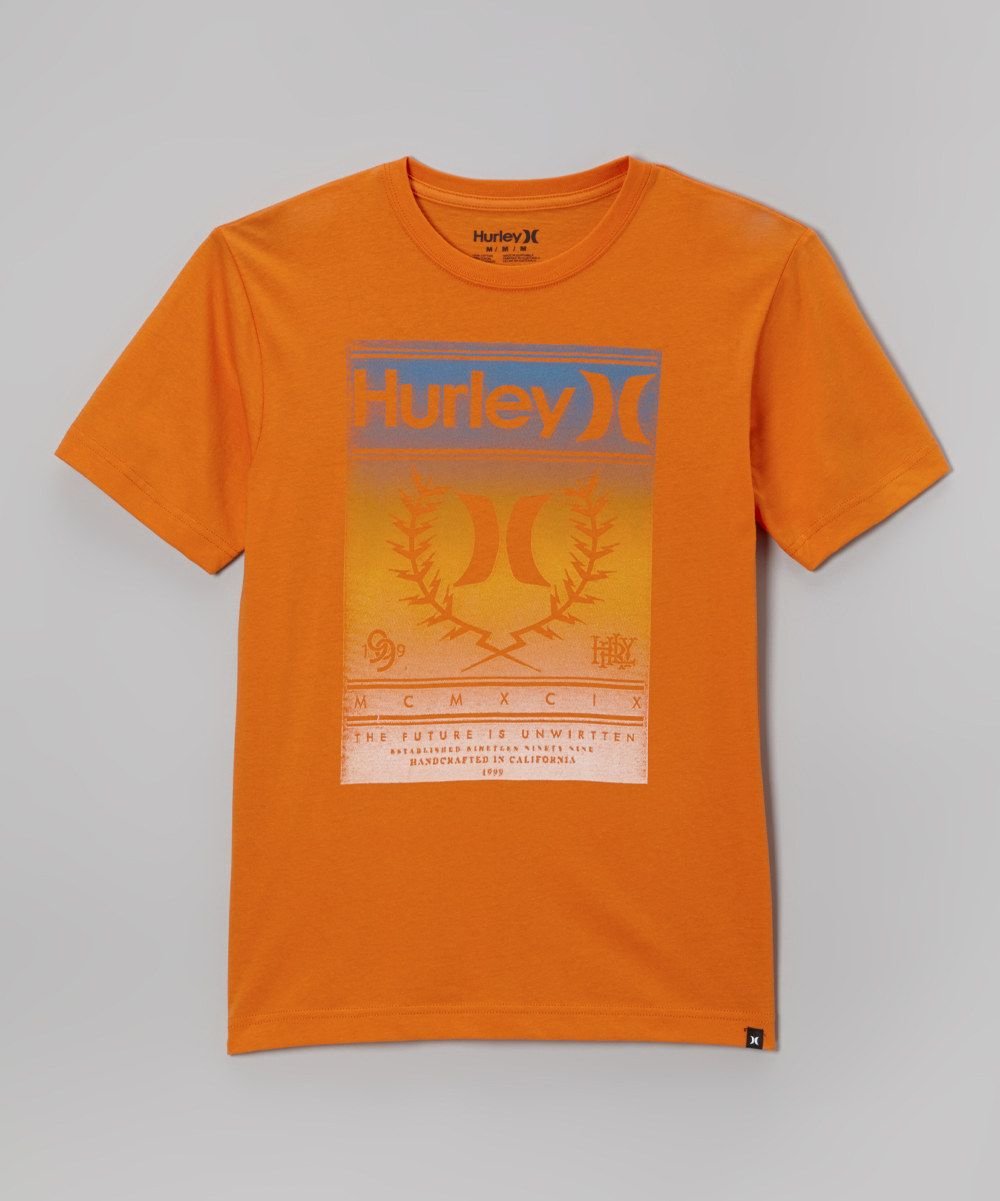 This Atomic Orange Shock Factor Tee - Toddler & Boys by Hurley is perfect! #zulilyfinds. $11.99