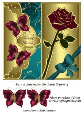 Birthday//Mothers Day//Thank You Topper 3 by Anna Babajanyan