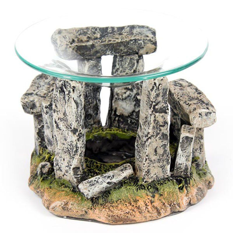 Mystical+Stonehenge+Design+Oil+Burner+with+Glass+Dish
