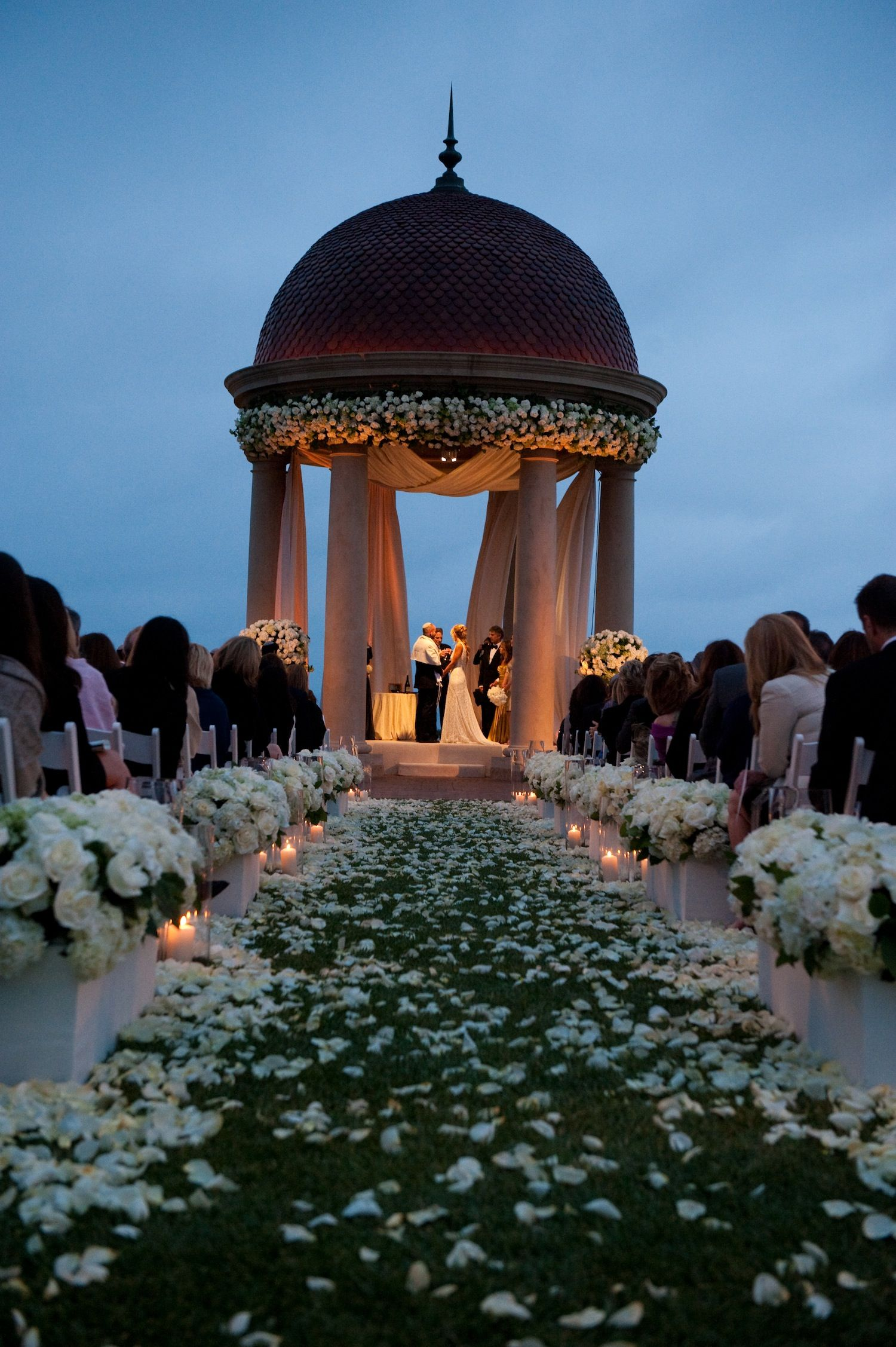 Gorgeous Sunset Ceremony At The Resort Of Pelican Hill