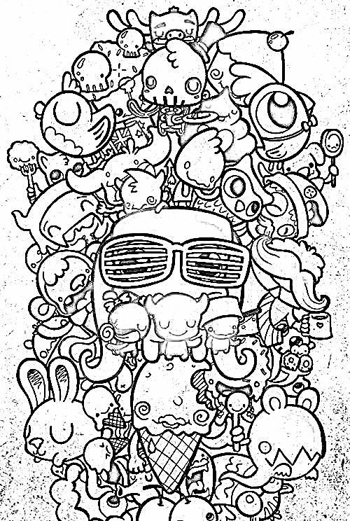 Doodle Coloring Page Doodle Coloring Pages For Adults Doodle