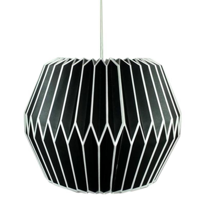 yokolight origami lamp origami hanglamp in de kleur zwart mooie