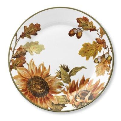 Botanical Sunflower Dinner Plates Set of 4 #williamssonoma  sc 1 st  Pinterest & Botanical Sunflower Dinner Plates Set of 4 #williamssonoma | food ...