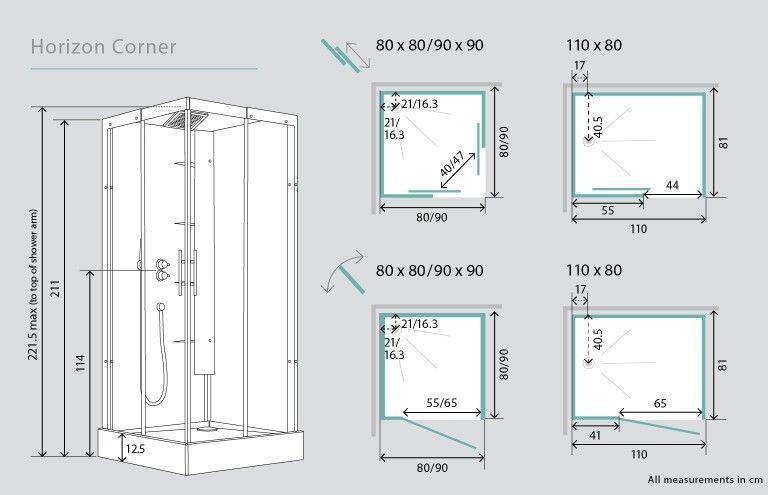 Corner Shower 3d View And Door Plans Bathroom Dimensions Shower